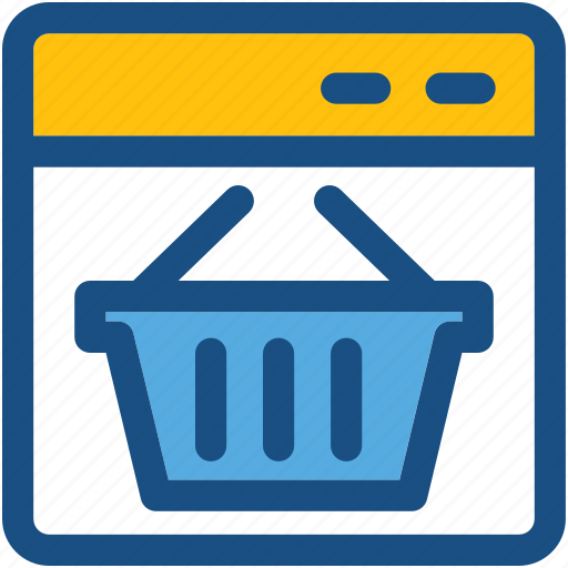 ecommerce, online shopping, shopping, shopping basket, shopping web icon
