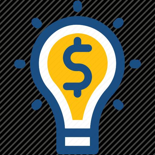 bulb, business idea, idea, innovation, invention icon
