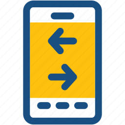 arrows, data exchange, data share, mobile, smartphone icon
