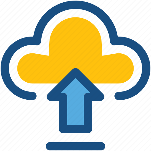 cloud computing, cloud transfer, cloud upload, data transmission, uploading icon