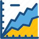 analytics, graph, growth chart, line graph, seo graph icon