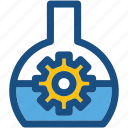 cog, cogwheel, configuration, experiment, flask icon