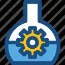cog, cogwheel, configuration, experiment, flask
