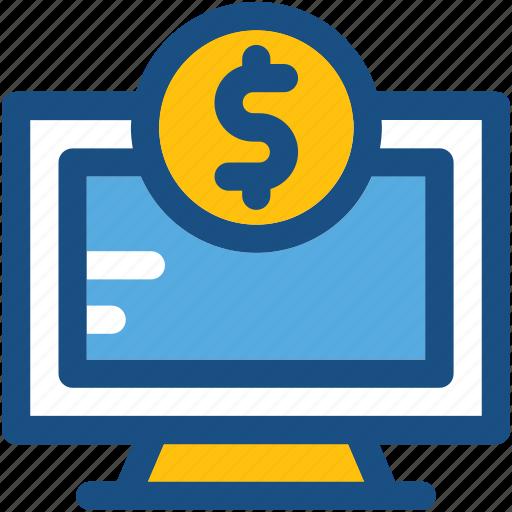 dollar, ecommerce, online business, online job, online work, ppc icon