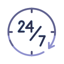 24 hours, help, information, service, support icon
