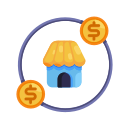 business, circle, coin, earnings, market, marketing, money icon