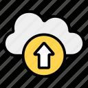 cloud, cloud hosting, cloud services, cloud storage, cloud uploading, data uploading, uploading icon