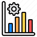 bar chart, data, data management, graphical presentation, infographic, management, statistics icon