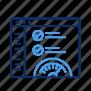 web, meter, gauge, dashboard, speed, speedometer, performance