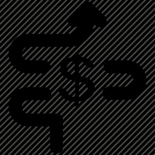 analytics, business, dollar, dollar valuation, earning, finance, money icon