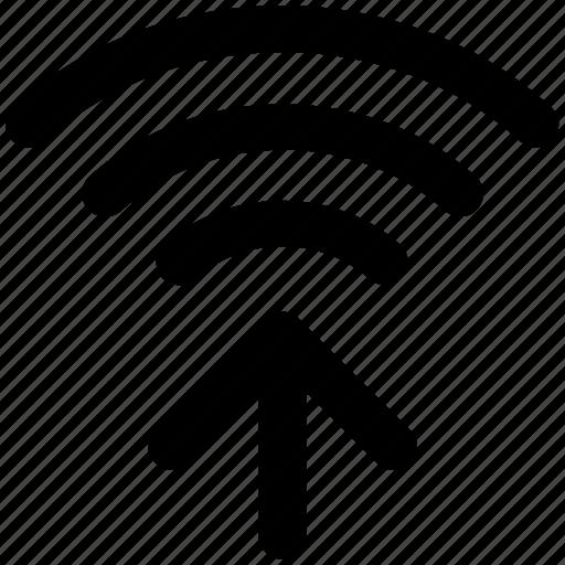 internet connection, signals arrows, wifi connection, wifi connectivity, wifi signals icon