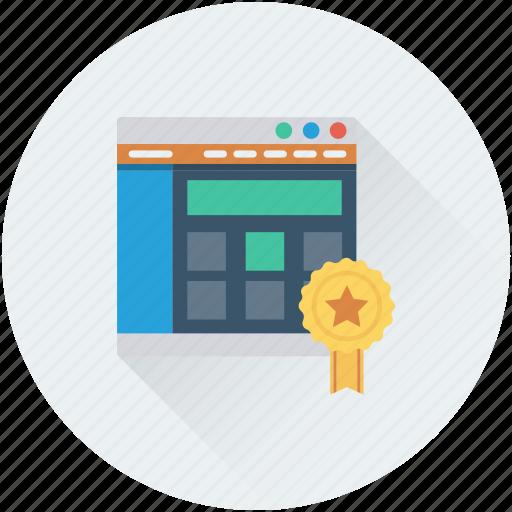 certified web, seo, web promotion, web ranking, web rating icon