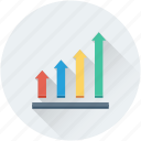 ascending, bar chart, bar graph, growth chart, progress chart icon
