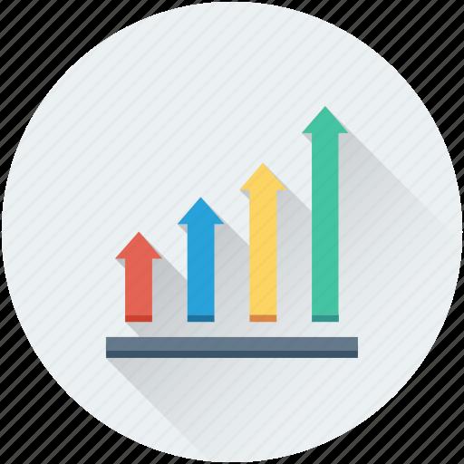 ascending, bar chart, bar graph, growth chart, progress chart icon
