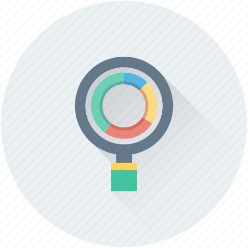 graphic, infographics, optimization, pie chart, search graph icon