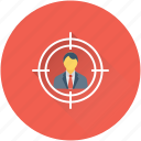 customer target, marketing, seo, target user, user target icon