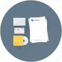 cd, data, documents, envelope, files icon