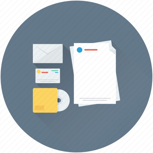 cd, data, documents, envelope, files icon