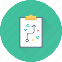 clipboard, marketing, plan, strategy, tactic icon