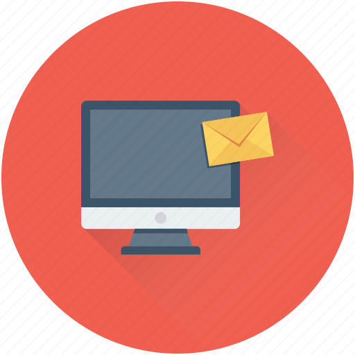 email, inbox, message, monitor, notification icon