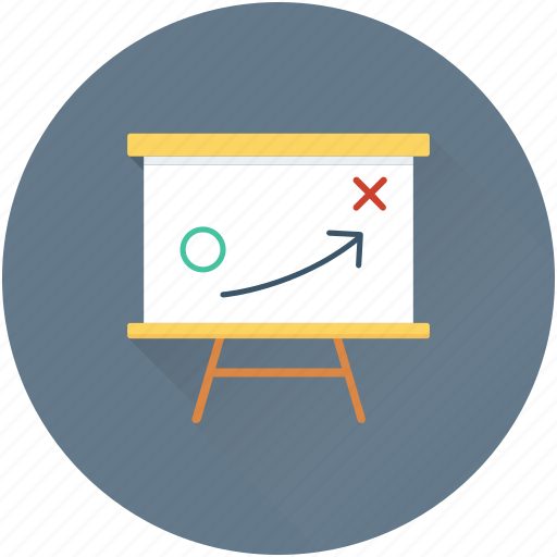 easel, marketing, plan, strategy, tactic icon