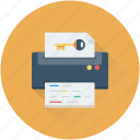 marketing, printer, printing machine, seo, seo publishing icon