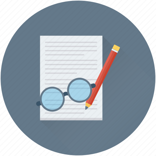contract, deal, glasses, organizing, planning icon