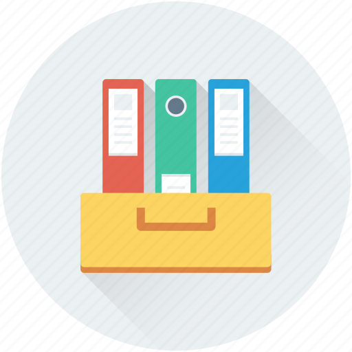 archives, file folders, file storage, files, office documents icon