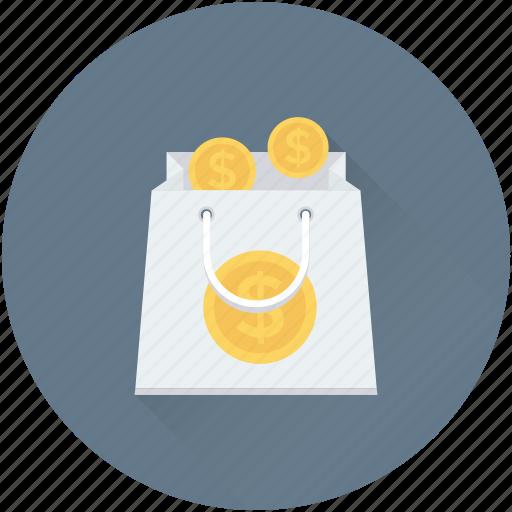 banking, money bag, shopping, shopping bag, wealth icon