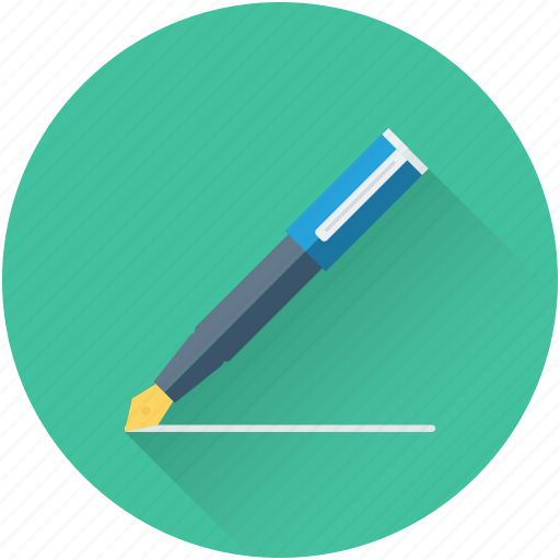 fountain pen, ink pen, pen, stationery, writing icon