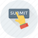 interface, submit application, hand gesture, submit, submit button icon