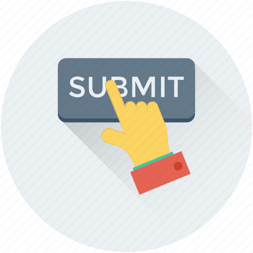 hand gesture, interface, submit, submit application, submit button icon