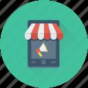 mobile, bullhorn, mobile advert, mobile marketing, mobile shop icon