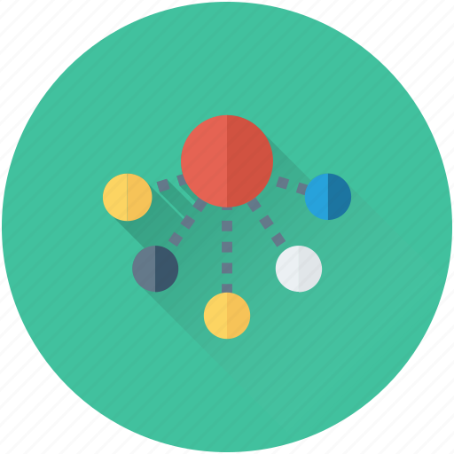connections, hierarchy, network sharing, networking, workflow icon