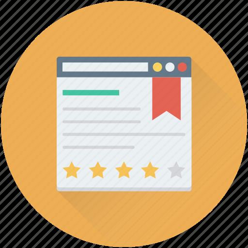 bookmarking, web page, web ranking, web rating, website icon