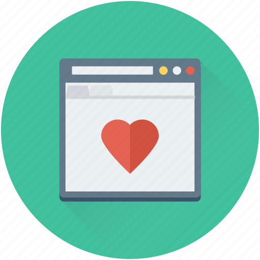 heart, love chatting, romantic chat, web page, website icon