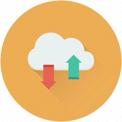 cloud computing, cloud downloading, cloud uploading, data share, networking icon