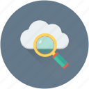 cloud computing, cloud search, icloud, magnifier, zoom icon