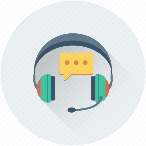 call center, chat bubble, customer service, headphones, telemarketing icon