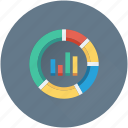 analytics, bar chart, bar graph, pie chart, seo graph icon