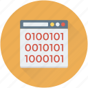 binary, coding, programming, web development, website icon