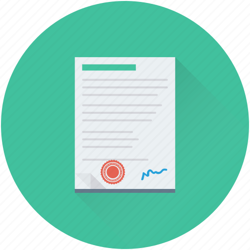 agreement, article, contract, document, licence icon