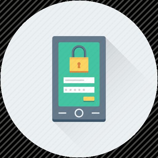 interface, mobile, mobile login, mobile security, user login icon