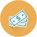 banknote, cash, currency, finance, paper money icon