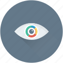 data visual, eye, pie graph, view, visualization icon