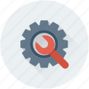 cog, cogwheel, repair tool, settings, wrench icon