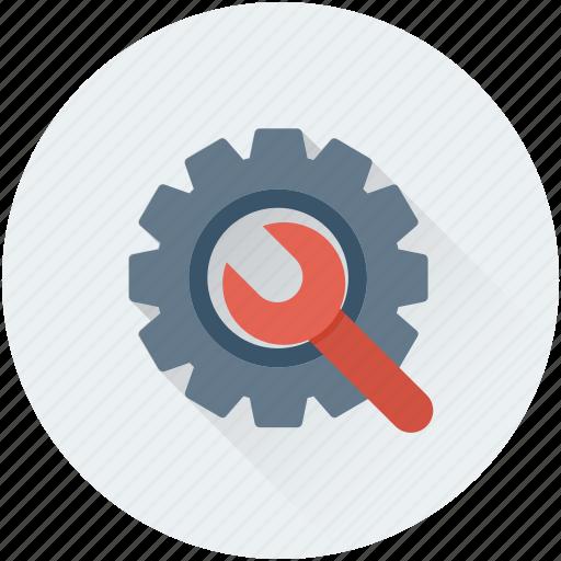 cog, cogwheel, repair tool, settings, wrench icon