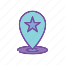 pin, potential, location, map icon