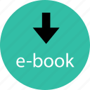 book, down, download, ebook icon