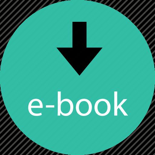 book, down, download, ebook icon